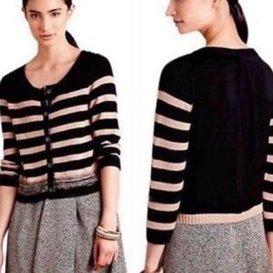 Anthropologie Striped Cardigan by Moss